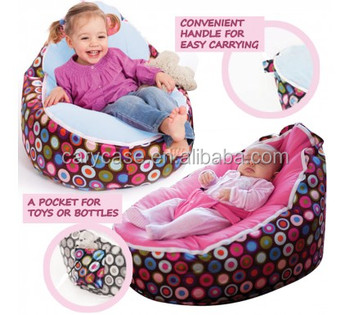 Marvelous Waterproof Layer Baby Bean Bag Chair Silk Polyester Pink Polka Dots Buy Baby Chair Beanbag Seat Bean Bag Sofa Bed Product On Alibaba Com Machost Co Dining Chair Design Ideas Machostcouk