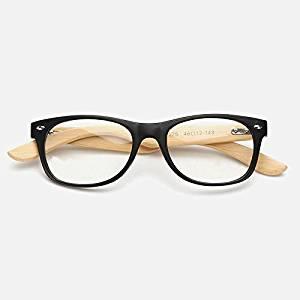 3bec61d1ff Get Quotations · Cloudings(TM)2016 Sport Gold Wood Glasses Frames Oliver  Peoples Bamboo Eyeglasses Frame Optic