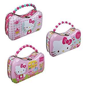 Hello Kitty Tin Scoop Purse Lunch Box Set