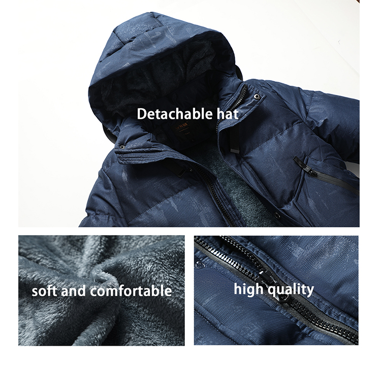 Wholesale Latest Design Clothes Soft Down Jacket Men Custom Winter Bubble Jacket