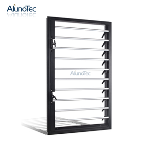 Aluminium Air Conditioner Window Operable Louvers Plantation Shutters