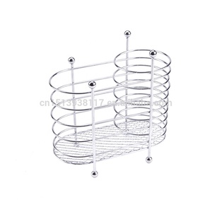 Metal Wire Cutlery Holder in Silver color Chrome plating Kitchen tools Cutlery basket