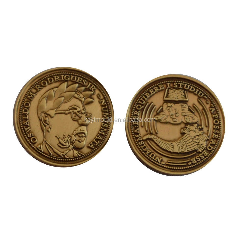 Characters custom metal antique gold plating copies of coins