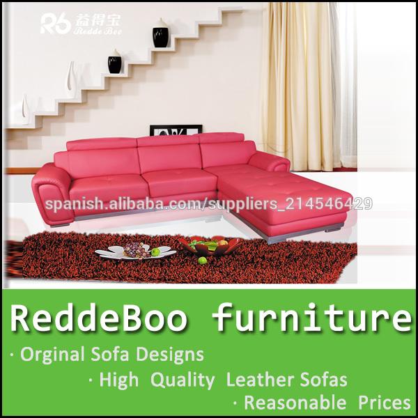 sof de cuero rojo louvre muebles sof de la esquina en shen zhen fbrica
