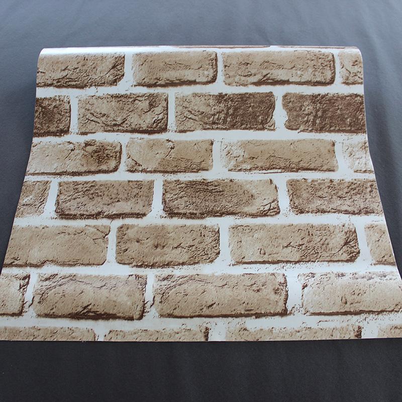 Faux Brick Peel Stick Wallpaper Brown Self Adhesive Wall Decoration