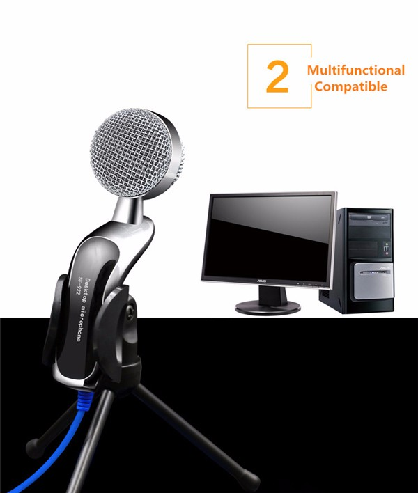 Desktop computer usb condenser microphone Mini Microphone for Mobile Devices