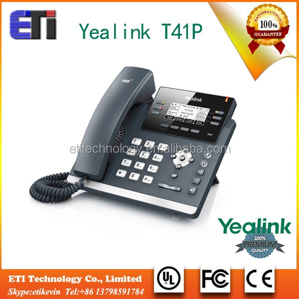 HD speaker OEM T41p Yealink 3 VoIP accounts Ip comparison