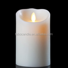 "LUMINARA LED FLAMELESS Wax Candle 3.5 ""x 7"" PILLAR Moving Flame candle"