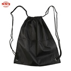 Promotional Logo Printed Folding Sport Backpack Drawstring Bag Pull String Bags