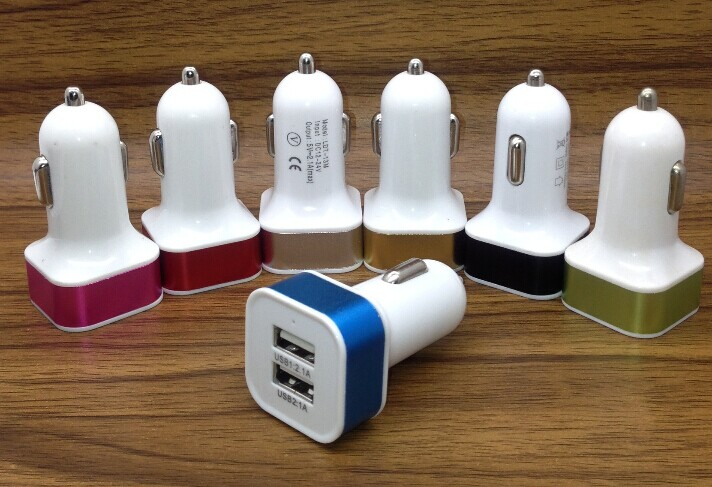 Fashionable universal usb car charger for all mobile phone