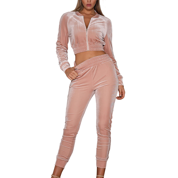 Pink Velour Tracksuit Pink Velour Tracksuit Suppliers And