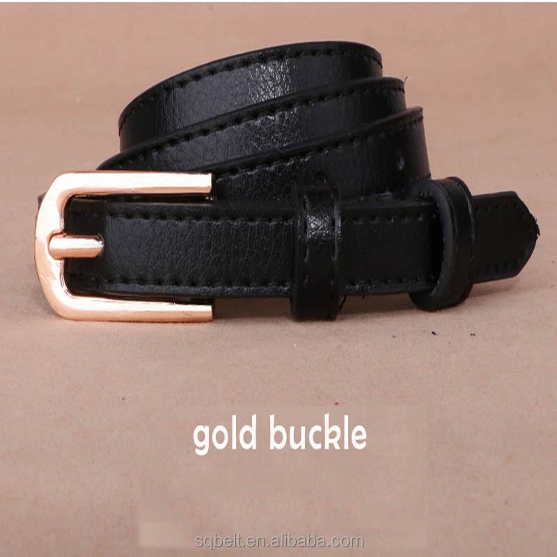 En gros personnalisé femmes en cuir ceinture sans trous dame ceinture en  cuir avec boucle dorée 4ce651c2f4c