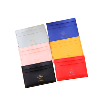 High-Quality Colorful PU Leather Bus Card Holders wallet