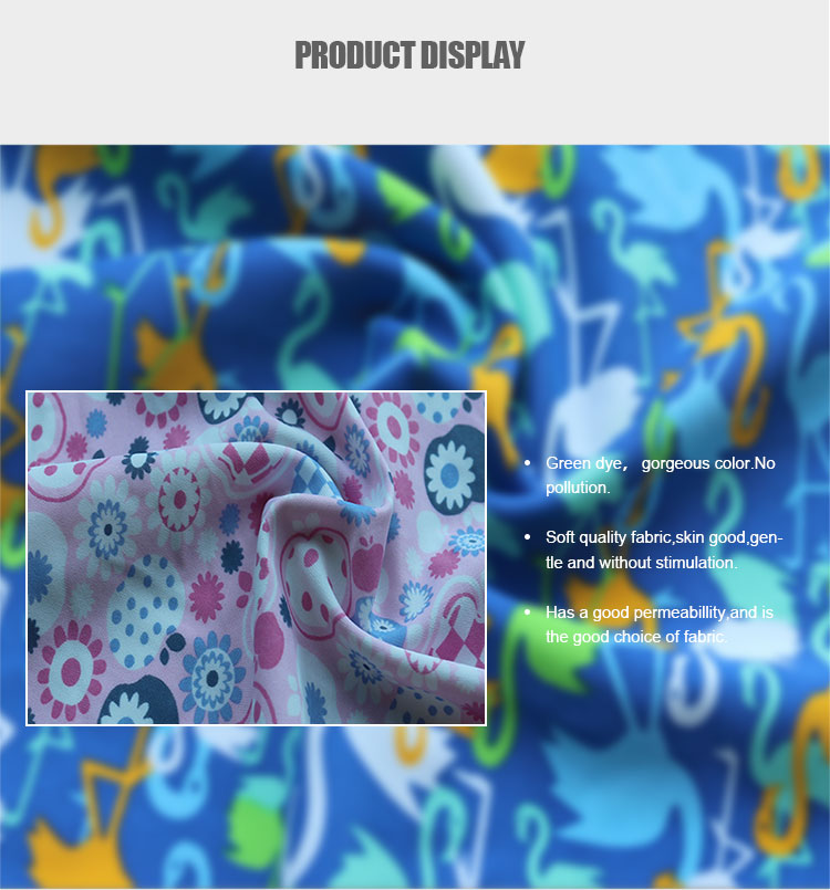 Digital printing 190gsm 82%nylon 18% Spandex 40D Breathable fabric for swimwear