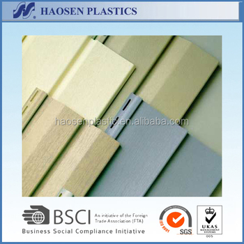 Other Plastic Building Materials Type Waterproof Exterior Wall Siding Panel