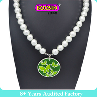 2017 Fashion Jewelry White Natural Pearl Necklace Women 8-9mm Necklace Beads Jewelry 40cm/45cm/50cm Length Necklace for Gifts