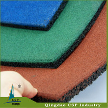 hot sale! 100% recycled SBR rubber granules red moulded rubber mat, outdoor rubber floor