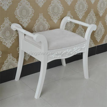 Gentil White Washed Hot Sell Wood Living Room Chair Dressing Table Chair