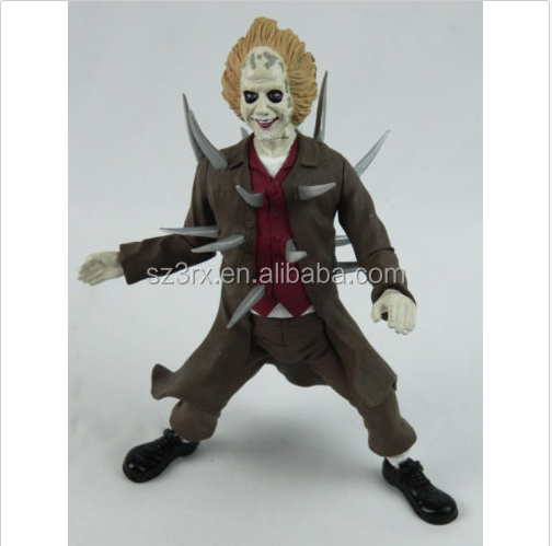 Custom Movie Horror Character Figurines With Spike/Design Unique Plastic Action Figure/Custom Made PVC Figure Toy