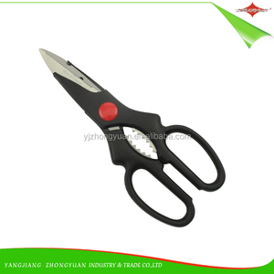 ZY-J1078 FDA Quality Kitchen Use Plastic Handle Vegetable Cutting food Scissor