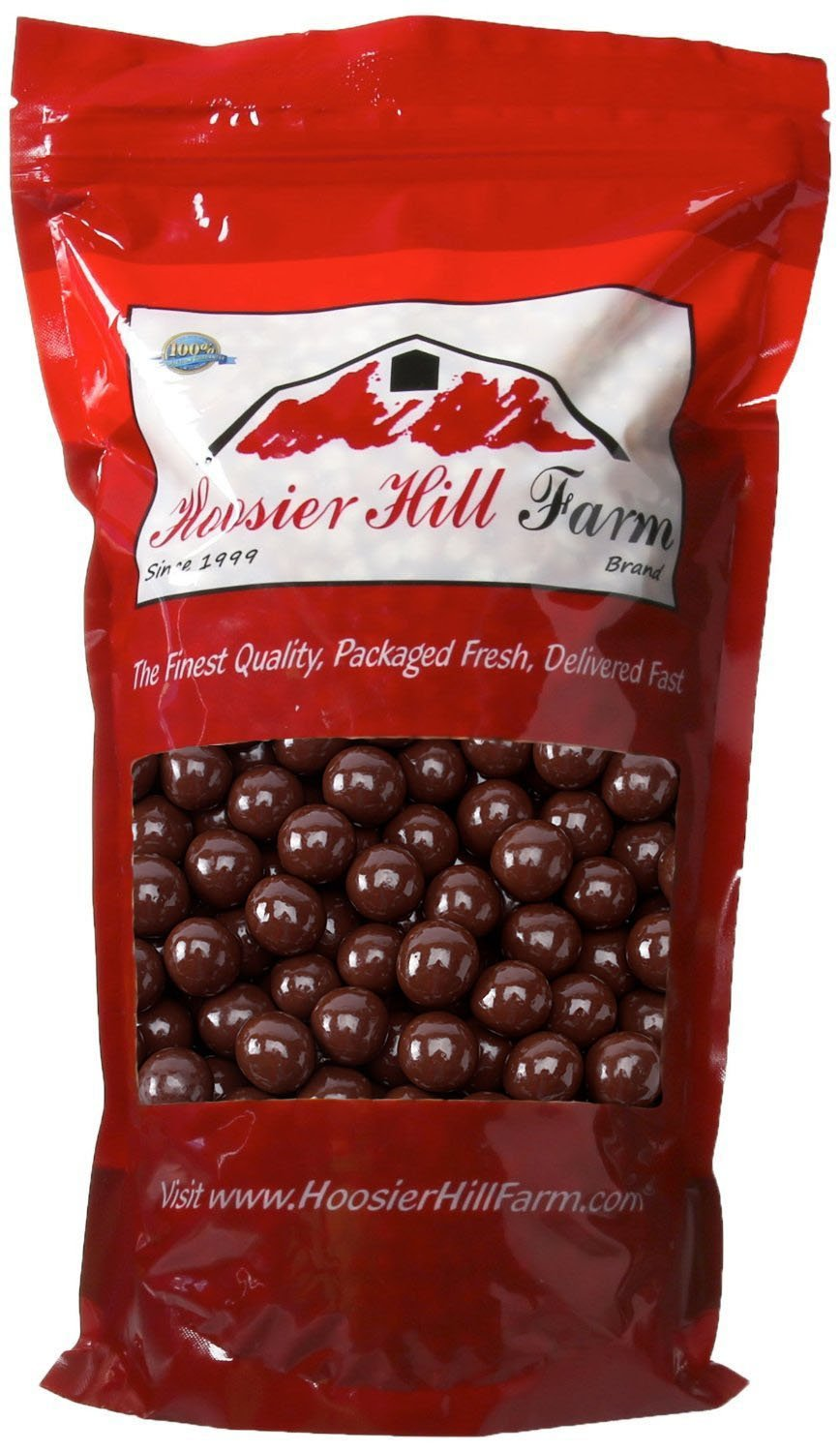 Dark Chocolate Covered Gluten Free Pretzel Rounds, by Hoosier Hill Farm, (2 lb bag) Made in USA