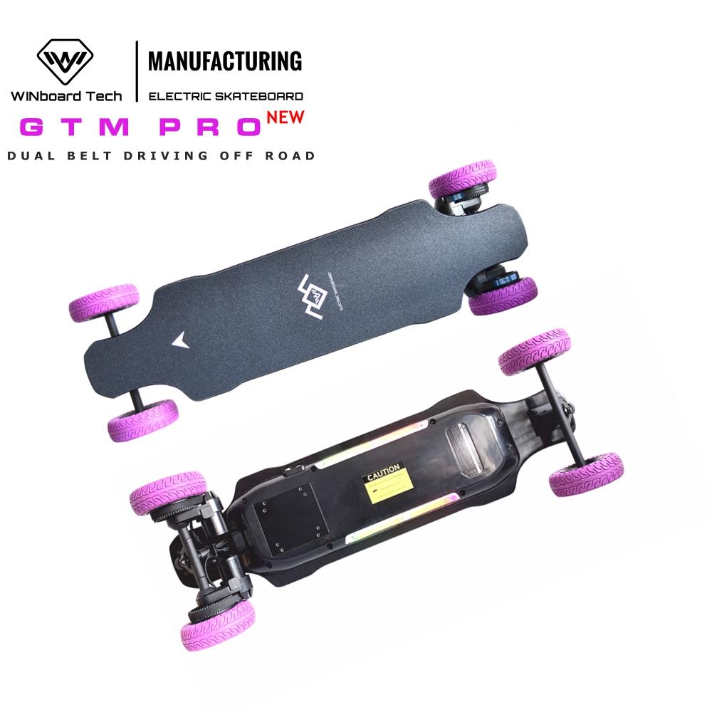 WINboard GTM PRO 180KV dual belt motor 38kmh speed 20km range off road all terrain electric skateboard