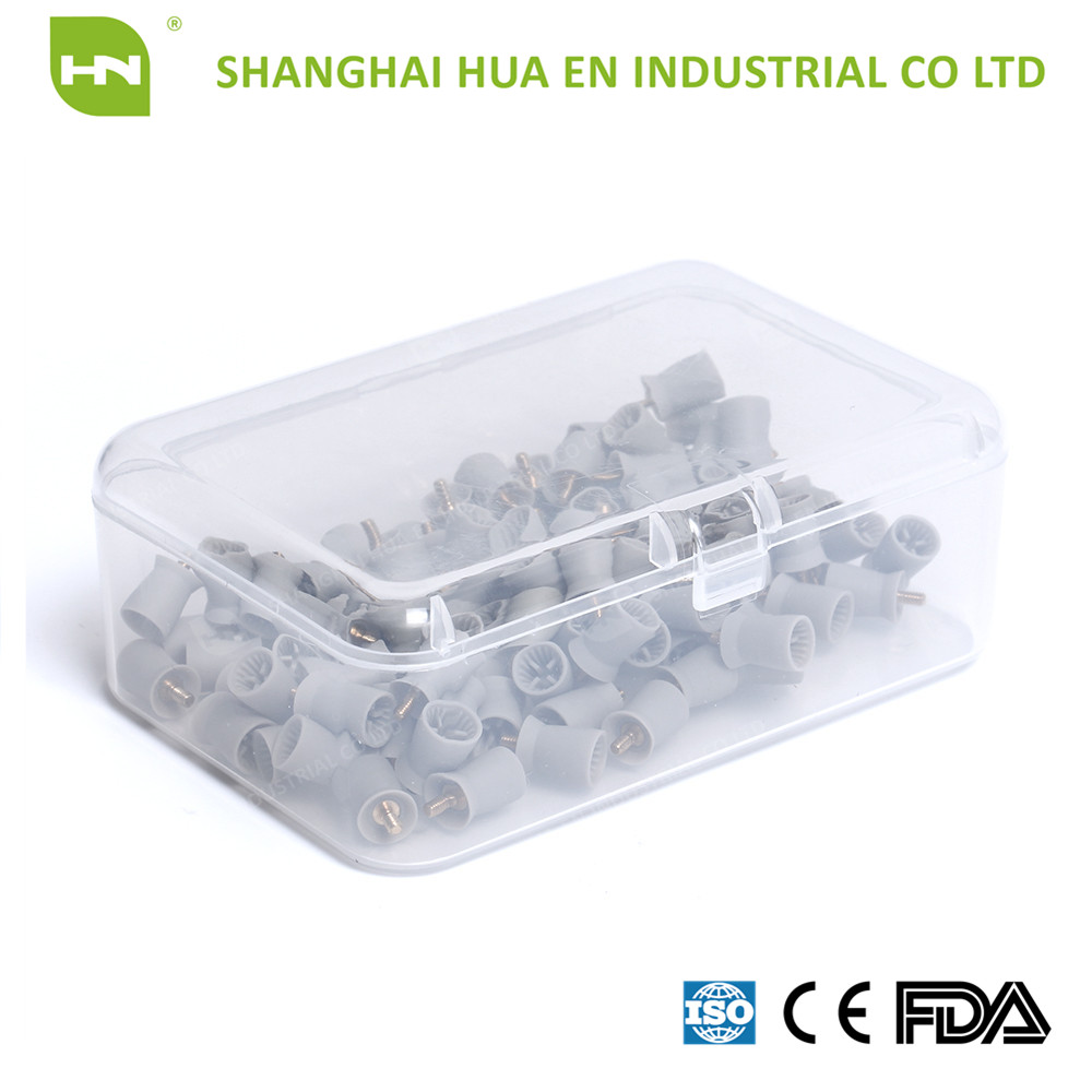 Disposable dental polishing cup screw type