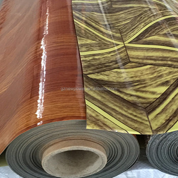 Vinyl Flooring Wood Print Recycled Spong Roll