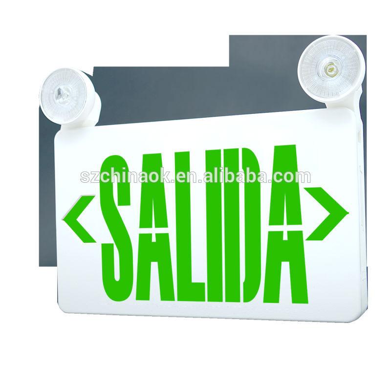 Ul salida combo de salida de emergencia luz signo luces de - Precio luces de emergencia ...