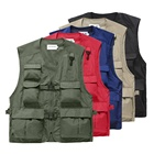 Breathable Vest for Men's Multi Pockets Cargoes Fisherman Vest Waistcoat for Fishing Shooting Hiking Journalist Photography Camping Safari Vest