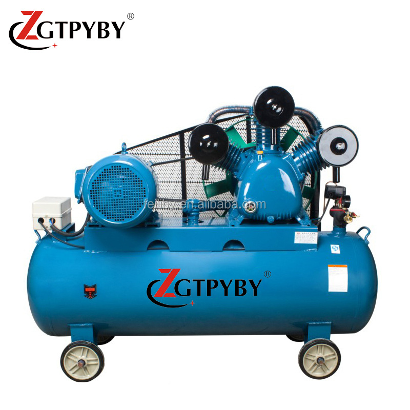 industrial heavy duty belt driven air compressor 500 liter for mining