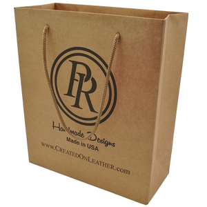 Custom logo China gift shopping brown kraft paper bag