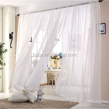 wholesale 100% polyester White Sheer Window decoration Voile curtain