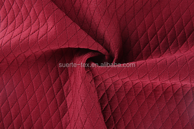 Knitted yarn dyed jacquard mattress polyester crepe fabric