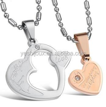 26d41a6639 Billig Schmuck Aus China Hot Sale Romantic Lover Couple Necklace ...