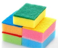 3 Pcs/set Nano-antibacterial Cleaning Sponge Kitchen&Household Cleaning Scouring Pads