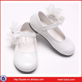 New Design White Colour Summer Girl Shoes