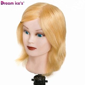 Dream Ice's Hair Hot sale human hair training manikin head mannequin training for hairdresser