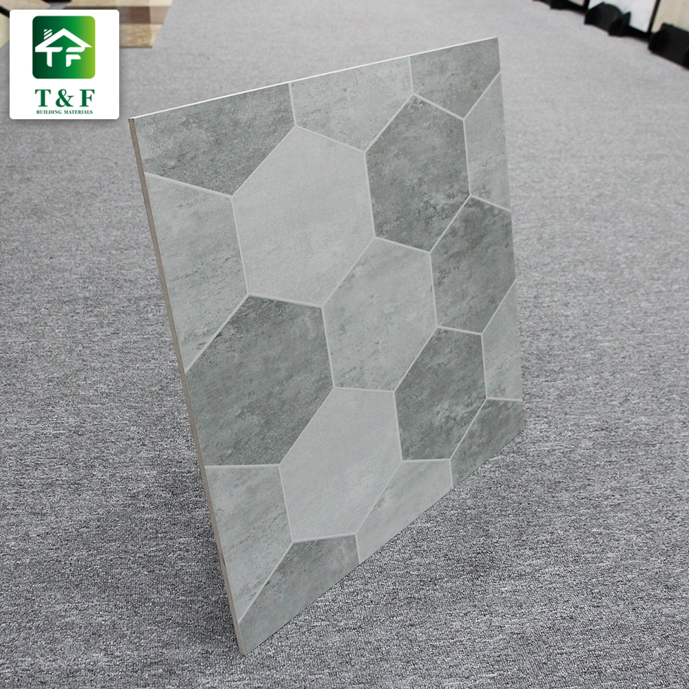 Matte Light Grey Hexagonal Patchwork