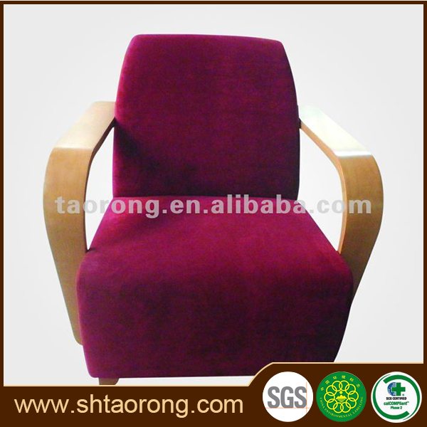 Factory direct cheap red fabric 1 seat salon furniture waiting sofa