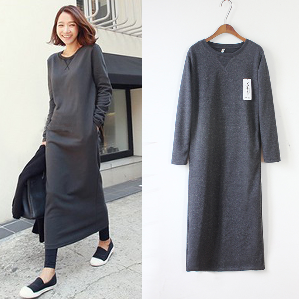 82ff0699a5a8 Ladies Long Sweatshirt Dress | Top Mode Depot