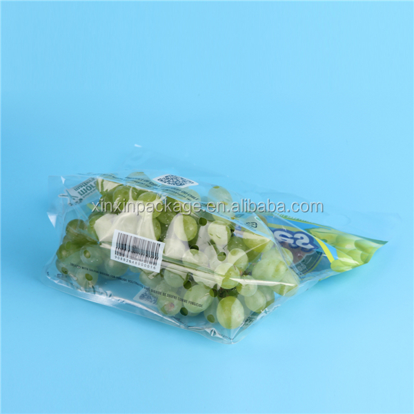 Desiny approval Supplier perforated BPA free plastic grape fruit cover bag with handle