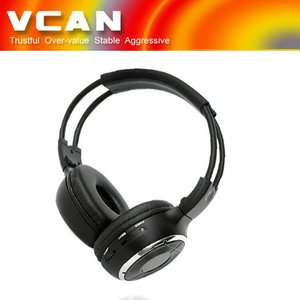 Vhf wireless headphone with fm radio WL-2008-99 In Car Dual Channel Stereo Infrared Headset