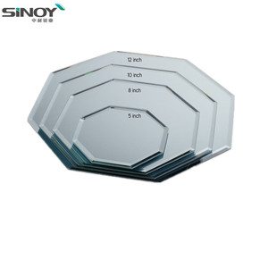 High quality popular beveled decorative wall mirror glass tile price