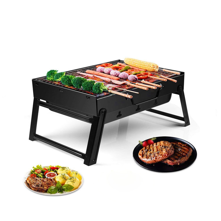 Edelstahl Camping Rotierenden Holzkohle Grill Stehen Tragbare Bbq Grill