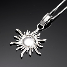 Cheap 925 sterling silver necklace jewellery sun shape quantum men pendant necklace price in india