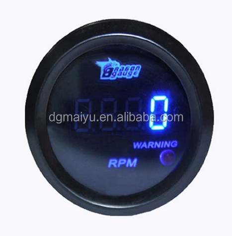 "NEW Universal Black 2"" 52mm Digital LED Tacho Tachometer Gauge"