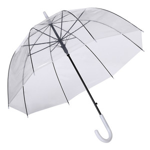 "35"" Full Size Adult Transparent Clear Bubble Dome Rain Umbrella for Wind and Heavy Rain"