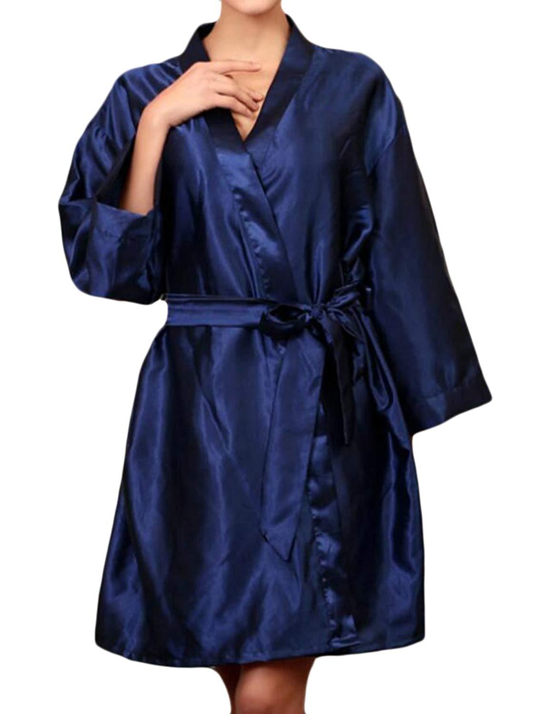 Get Quotations · Jotebriyo Womens Plus Size Nightgowns Solid Sleepwear Silk  Satin Nightgowns 300bcfcbd