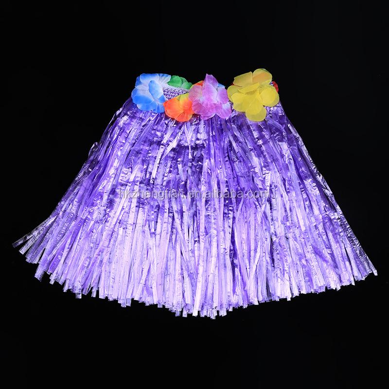 Ecoparty señoras mujeres Hawaii vestido de lujo falda de hierba hula ...